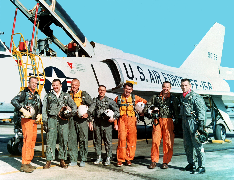 Členovia oddielu The Mercury Seven